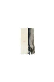 Bufanda de Mistral con rayas en un lateral  y flecos. -