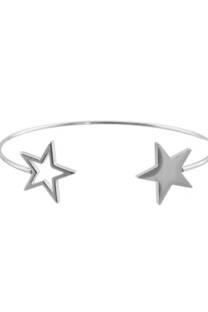 Pulsera acero quirúrgico doble estrella -