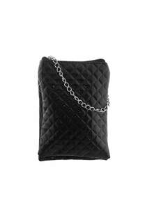 Bandolera texturada doble de charol con tira de cadena-  Medidas: 20 cm x 13 cm