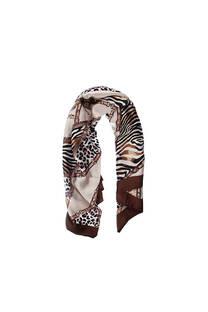 Pañuelo dama de seda cuadrado con estampado animal print.  Medidas: 90 cm x 90 cm