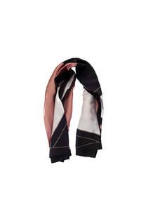 Pañuelo dama de seda cuadrado con estampado tricolor.  Medidas: 90 cm x 90 cm