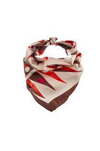 Pañuelo dama de seda cuadrado con estampado de colores.  Medidas: 50 cm x 50 cm