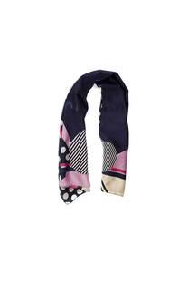 Pañuelo dama de seda cuadrado con estampado de lunares.  Medidas: 90 cm x 90 cm