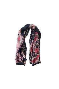 Pañuelo dama de seda cuadrado con estampado de mandala.  Medidas: 90 cm x 90 cm