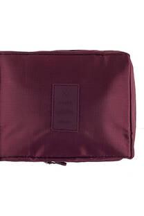Neceser multi pouch espacioso con separador, doble bolsillo de red y doble cierre. Medidas: 25 cm x 20 cm Diseño-Morado -