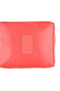 Neceser multi pouch espacioso con separador, doble bolsillo de red y doble cierre. Medidas: 25 cm x 20 cm Diseño-Coral -