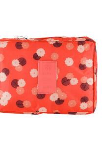 Neceser multi pouch espacioso con separador, doble bolsillo de red y doble cierre. Medidas: 25 cm x 20 cm Diseño-Coral flores -