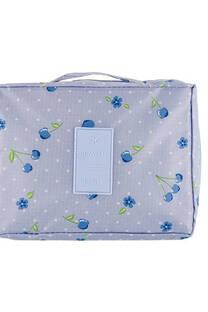 Neceser multi pouch espacioso con separador, doble bolsillo de red y doble cierre. Medidas: 25 cm x 20 cm Diseño-Celeste manzanas -