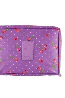 Neceser multi pouch espacioso con separador, doble bolsillo de red y doble cierre. Medidas: 25 cm x 20 cm Diseño-Manzanas lila -