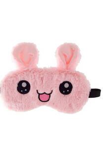 Antifaz de peluche con gel refrigerante en la parte interior. Forma de conejo con detalle de orejera y elástico en la parte de atrás. Adecuado para todos los tamaños de cabeza. -