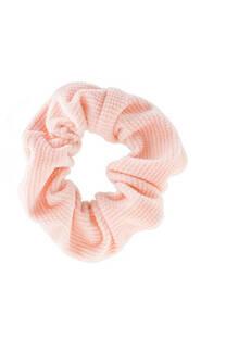 Scrunchie rayada de corderoy -