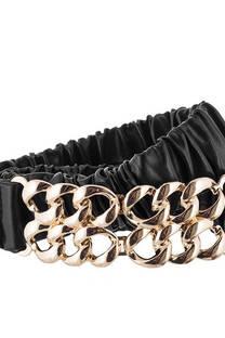Cinto importado elastizado con hebilla de cadena. Medida: 75 cm. Composición: PU. -