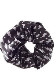 Scrunchie XXL de raso con diseño de Estrellas y Rayos -