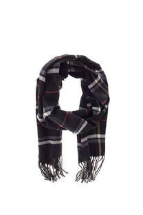 Bufanda de lana para hombre a cuadros con flecos.  Medidas; 170 cm x 30 cm    -