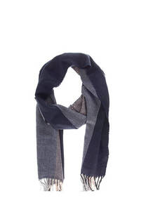Bufanda de lana para hombre con franjas y flecos.  Medidas; 170 cm x 30 cm -