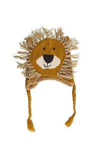 Gorro de lana premium león para niños -