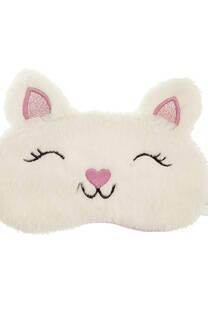 Antifaz peluche para dormir teen carita de gatito -