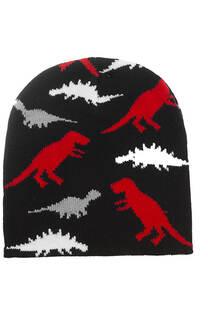 Gorro rocky con estampados dinosaurios para niños. -