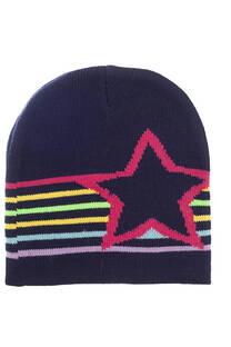 Gorro rocky con estampados estrellas para niños. -