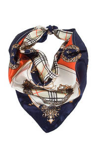 Pañuelo de seda cuadrado con estampado.Medidas: 50 cm x 50 cm -