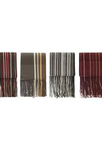 Bufanda de hombre premium discontinua pack x 4 Surtido.  Medidas: 190 cm x 20 cm / 120 gramos