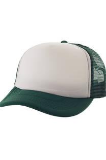 Gorra cap lisa con frente blanco -