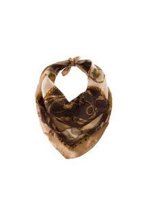 Pañuelo de seda cuadrado con estampado -