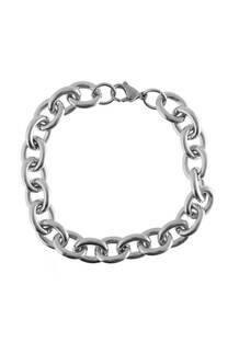 Pulsera cadena grande de acero quirúrgico -