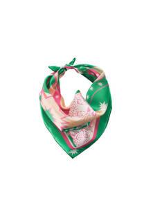 Pañuelo de seda estampado -