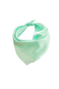 Pañuelo cuadrado liso de seda fluo.  Medidas: 50 cm x 50 cm -