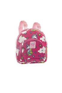 Mini mochila de tela para niños UNICORNIO con tiras regulables.  Medidas: 20 cm x 20 cm -