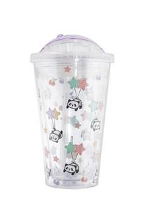Vaso estampado 450ml diseño pandas -