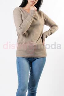 Sweater con botones en las mangas -