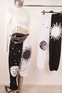 Pantalon Estampado Combi Talle/Free -