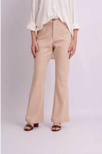 Pantalon oxford de lino spandex con cierre -