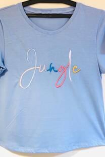 algodon remera bordado jungle -