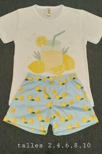 Pijama Sublimado Limonada -