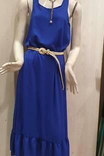 vestido largo fibrana ancho -
