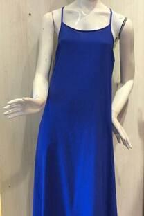 vestido largo fibrana -