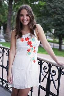 Vestido bordado BECHIA  -