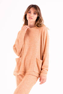 Sweater de lanilla waffle -