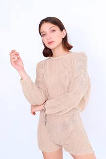 Conjunto Sweater C/ Short Tejido -