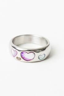 Anillo piedra corazón  -