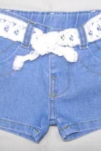 Short beba de jean con cinto -