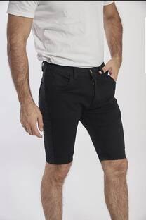 bermuda negra de jean -