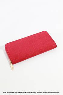 Billetera de eco cuero con cierre, tamaño grande. -