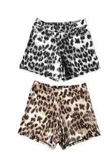 Short engomado Leopardo -