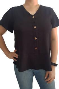 Blusa de Lino con botones. -