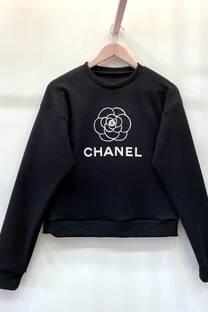 Buzo s/capucha Flor Chanel -