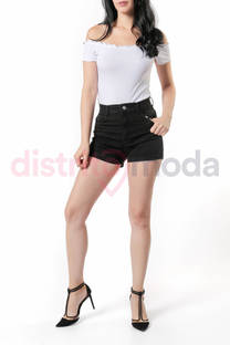 Short Tiro Alto Negro -